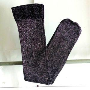 Forever 21 Glitter Silver Metallic Socks